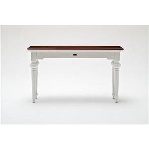 NovaSolo Provence Accent Console Table - White/Mahogany