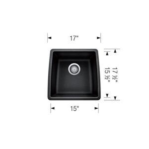 Blanco Performa Undermount Bar Sink - Concrete Grey