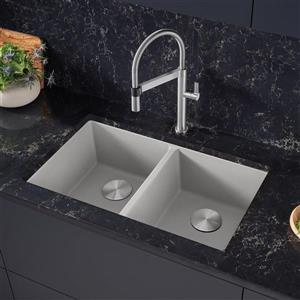 Blanco Precis U 2 Undermount Sink - Concrete Grey