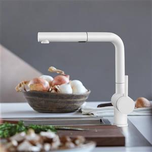 Blanco Posh Pull-Out and Dual-Spray Kitchen Faucet - White