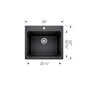 Blanco Liven Dual-Mount Laundry Sink - Concrete Grey