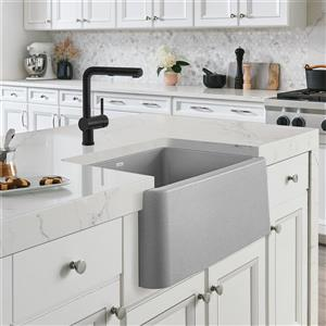 Blanco Ikon Single Bowl Farmhouse Sink - 27-in - Concrete Grey
