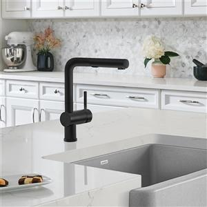 Blanco Posh Pull-Out and Dual-Spray Kitchen Faucet - Anthracite