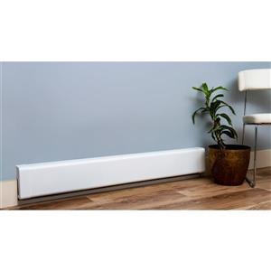 Veil Titan Baseboard Heater Cover - 4-ft - Satin White Aluminum