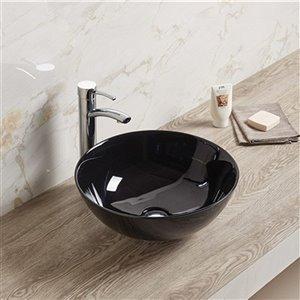 American Imaginations Vessel Bathroom Sink - 14.09-in - Black