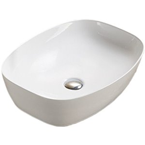 American Imaginations Rectangular Vessel Bathroom Sink - 19.9-in - White