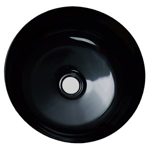 American Imaginations Bathroom Sink - Round Shape - 14.09-in - White