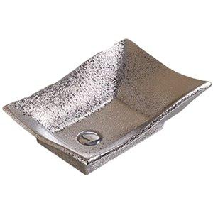 American Imaginations Vessel Bathroom Sink - Rectangular Shape - 20.08-in x 14.17-in - Silver