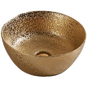 American Imaginations Vessel Bathroom Sink - 14.09-in - Gold