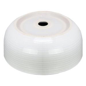 American Imaginations Round Vessel Bathroom - 14.09-in x 14.09-in - White