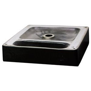 American Imaginations Vessel Bathroom Sink - Square Shape - 18.1-in - Black