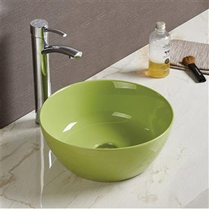 American Imaginations Vessel Bathroom Sink - 14.09-in - Green