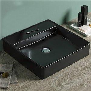 American Imaginations Vessel Bathroom Sink - 18.1-in x 18.1-in - Black