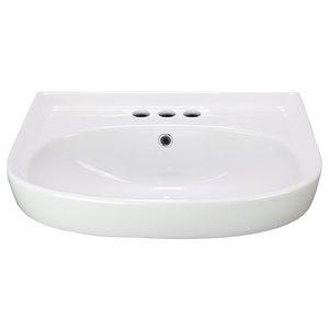 American Imaginations Vessel Bathroom Sink - Rectangular Shape - 22-in x 17.7-in - White