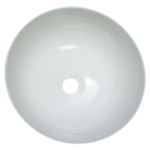 American Imaginations Round Vessel Bathroom Sink - 14.09-in x 14.09-in - White