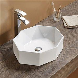 American Imaginations Vessel Bathroom Sink - Oval Shape - 19.7-in - White
