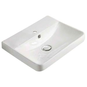 American Imaginations Rectangular Vessel Bathroom Sink - 15.82-in x 13.97-in - White