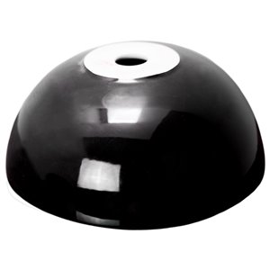 American Imaginations Vessel Bathroom Sink - Round Shape - Black