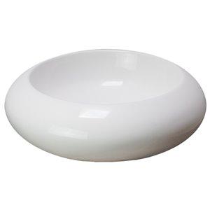 American Imaginations Vessel Bathroom Sink - Round Shape - 19.3-in - White