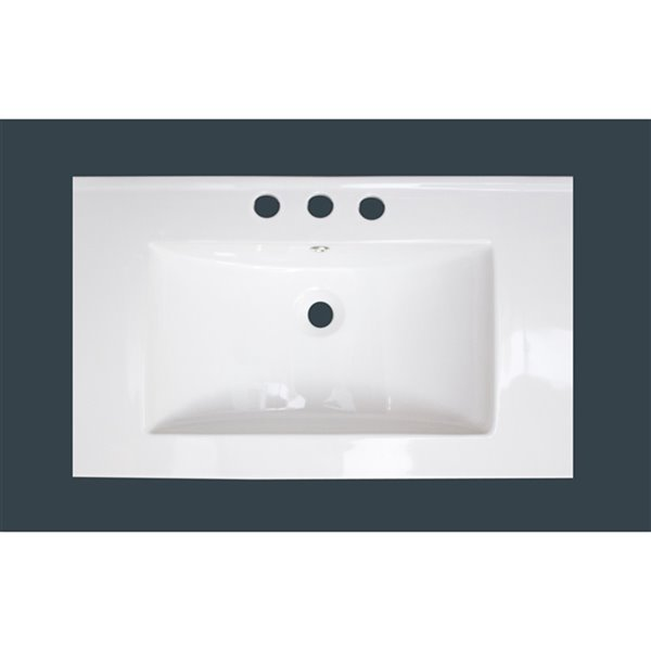 American Imaginations Roxy Bathroom Vanity Top Set Single Sink 3 Hole Faucet 32 In White Lowe S Canada