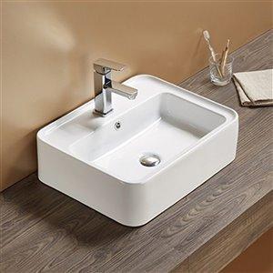 American Imaginations Vessel Bathroom Sink - 20.9-in x 16.73-in - White
