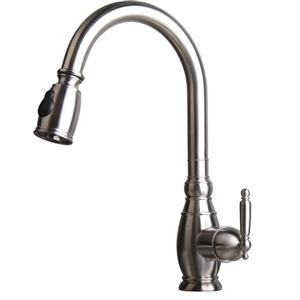 American Imaginations Kitchen Faucet - 1-Handle - 16.34-in - Stainless Steel