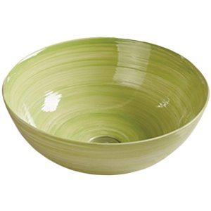 American Imaginations Vessel Bathroom Sink - 14.09-in x 14.09-in - Green