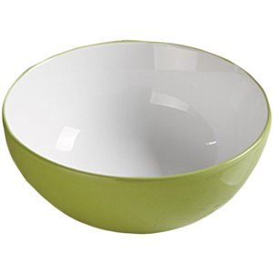 American Imaginations Vessel Bathroom Sink - Round Shape - 14.09-in - Green/White