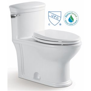 American Imaginations Toilet - 1-Piece with Single Flush - Confort Height - White