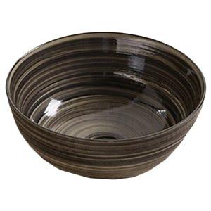 American Imaginations Vessel Bathroom Sink - Round Shape - 14.09-in - Black