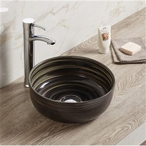 American Imaginations Bathroom Sink - without Overflow - 14.09-in - Black