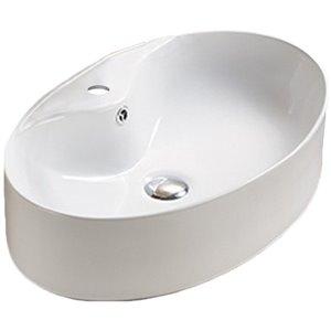 American Imaginations Vessel Bathroom Sink - Oval Shape - 22.83-in x 15.16-in - White