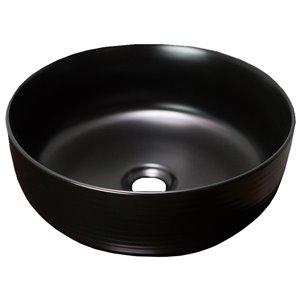 American Imaginations Bathroom Sink - 14.09-in x 14.09-in - Black