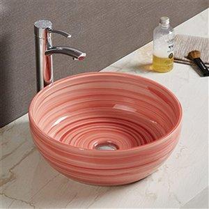 American Imaginations Vessel Bathroom Sink - 16.14-in x 16.14-in - Red