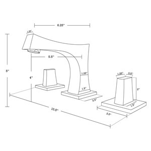 American Imaginations Undermount Bathroom Sink with Overflow Drain - 18.25-in x 15.25-in - White