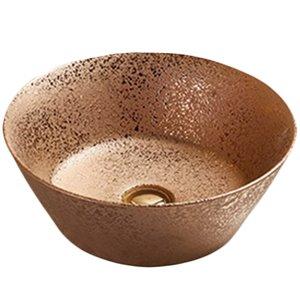 American Imaginations Vessel Bathroom Sink - Round Shape - 15.9-in x 15.9-in - Bronze