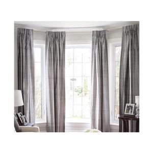 Versailles Home Fashions 43-78-in Bay Window Rod set with Mounting screw Finial - Rubbed Matte Brass