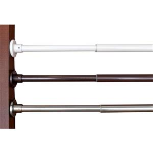 Versailles Home Fashions 28-48-in Spring Tension Rod set - Brushed Nickel