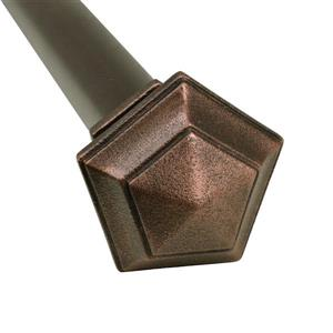 Versailles Home Fashions 86-150-in Titan Ex Rod with Penta Finial - Antique Copper