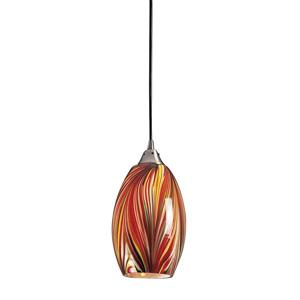 ELK Lighting Mulinello Mini Pendant Light - 1-Light - Satin Nickel