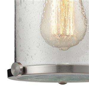 ELK Lighting Chadwick Mini Pendant Light - 1-Light - 8-in - Satin Nickel