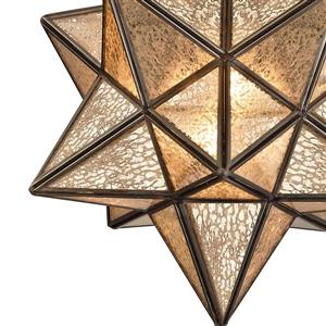 ELK Home Moravian Star Pendant Light - 1-Light - Bronze