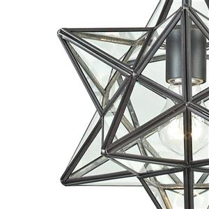 ELK Home Star Mini Pendant Light - 1-Light - 9-in - Oiled Bronze