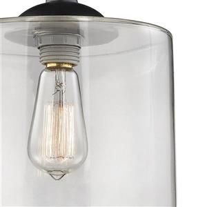 ELK Lighting Bergen Mini Pendant Light - 1-Light - Matte Black