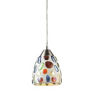 ELK Lighting Gemstone Mini Pendant Light - 1-Light - Satin Nickel