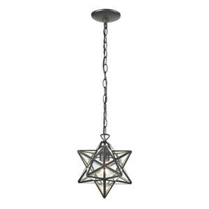 ELK Home Star Mini Pendant Light - 1-Light - 11-in - Oiled Bronze