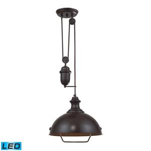 ELK Lighting Farmhouse Pendant Light - 1-LED Light - Oil Rubbed Bronze