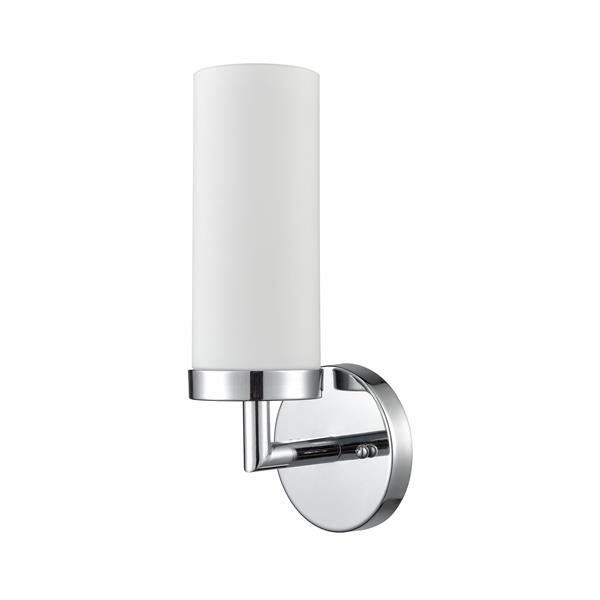 Thomas Lighting Bath Essentials Wall Sconce 1 Light 6 In X 17 In Chrome Lowe S Canada