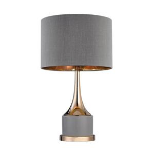 Elk Lighting Cone Neck Table Lamp - 18.5-in - Gold and Grey
