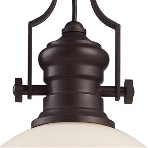 ELK Lighting Chadwick Pendant Light - 1-Light - 13-in - Oiled Bronze